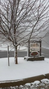 Thanks to Kimberly Sillas at Wintergreen Rentals for the photo! : Snow greeted people living at Wintergreen around 3500' on Devils Knob - Friday - March 27, 2015