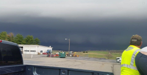 """Thanks to Justin Craig for this photo of the storm that moved through about 5:20. """"Standing in Fishersville looking towards Staunton."""""""