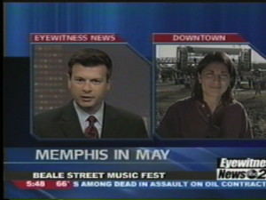 Blue Ridge Life Magazine Publisher Yvette Stafford in one of her final TV news appearances back in 2004. This was just before moving to Virginia to start our new lives here.