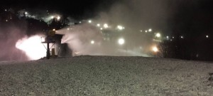 Photo courtesy of Wintergreen Resort : They fired up the snowmaking gear at Wintergreen over the past 24 hours or so.