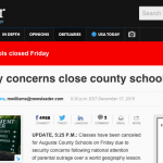 Augusta: County Schools Closed On Friday - December 18, 2015 Amid Security Concerns