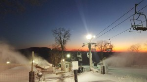 Image Via Wintergreen Resort : For the first time in weeks the temperatures have cooperated and allow Wintergreen to make snow. Enough so they opened at noon Sunday.