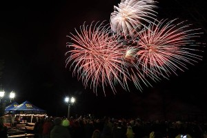 ©2016 Blue Ridge Life Photo By BRL Mountain Photographer Paul Purpura : The skies over Wintergreen Resort were alive with color on the final night of 2015as folks welcomed in the New Year during the annual firewarks tradition.