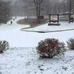 Light Snow Across The Blue Ridge Of Central Virginia