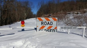Photo By Heidi Crandall : Obviously it will be days if not weeks before the Blue Ridge Parkway is reopen. Many areas at that elevation got upwards to near 3 feet of snow in the highest of elevations.