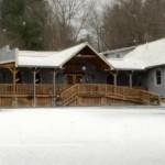 Snow Showers Move Across The Central Virginia Blue Ridge