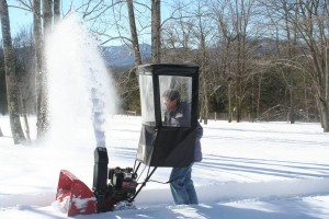 Photoo By Barbara Heyl : Marion Kanour of Faber, Virginia gives her snazzy snowblower a sun this past Sunday afternoon - January 24, 2016