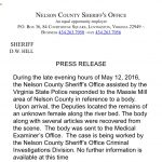 News Alert - Nelson: Female Body Discovered In Massies Mill Area : ID Released : 6:30 PM