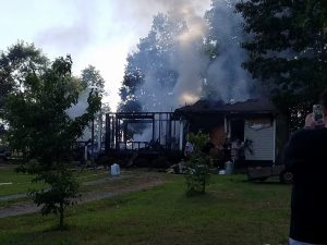 Photo courtesy of Julie Gunter and Tammy Gunter Layne : Another family has lost their home after a tragic fire over the weekend in Gladstone -  July 17, 2016