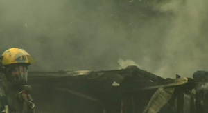 Photo courtesy of CBS-19 - The Newsplex : Charlottesville : A house fire Schuyler on Tuesday morning completely destroyed the home.