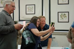 Photo by Tommy Stafford : Eric Scott, who played son and brother Ben on The Waltons, poses for a selfie with a fan during the 45th Annual Waltons Reunion on Saturday - March 25, 2017 in Schuyler, Virginia.