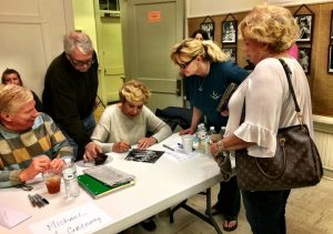 ©2017 Blue Ridge Life Magazine : Photo By BRL Photographer Jenn Rhubright : Michael Learned (center) signs an autograph for a fan at the 45th Annual Waltons Reunion held this past weekend in Schuyler, Virginia. Saturday - March 25, 2017.