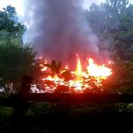 NELSON : Crews Battle Fully Involved House Fire On Rhue Hollow Road