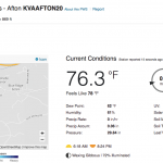 Afton : Valley Road Vineyards Is Newest Member Of Our BRL WeatherNow Network
