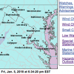Wind Chill Advisory / Warning In Effect Until Noon Saturday