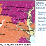 HEAT ADVISORY : 11 AM TO 9 PM Friday : EXCESSIVE HEAT WATCH : This Weekend
