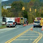 Albemarle : Overturned Truck Closes Route 151 & 250 (Opened) Update 2:35 PM