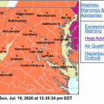 Weather Bulletin : Heat Advisory Continues Until 8 PM Sunday Evening - Again Monday