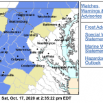 Frost Advisory :  For Much Of The Blue Ridge Area Late Saturday Into Sunday Morning