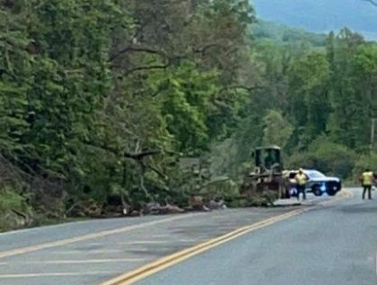 Afton : VDOT MOBILIZING CONTRACTORS TO CLEAR ROCK SLIDE