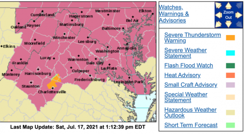 Severe Thunderstorm Watch Until 11PM Saturday Night (7.17.21) *Cancelled*
