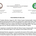 Nelson CA Asks For State Review Into NCHS Student / Sheriff Incident
